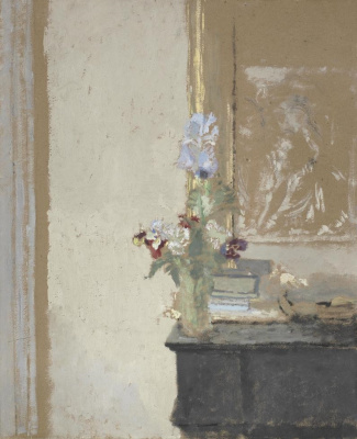 Jean Edouard Vuillard. Iris and pansies