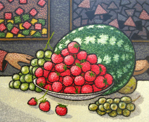Yuri Vladimirovich Sizonenko. Still life with strawberries.