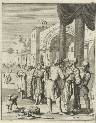 Jan Leuken. Cruel Shah Sephi orders to cut off his nose
