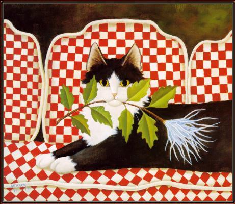 Диана Джексон. Черно-белый кот