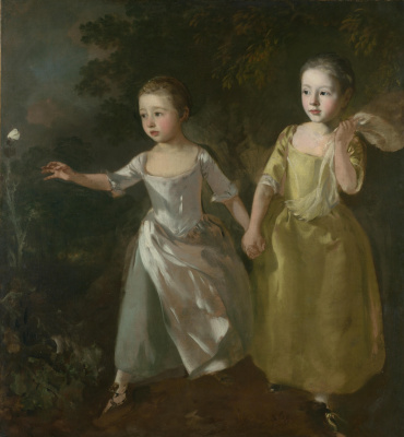 The artist's daughter chasing a butterfly