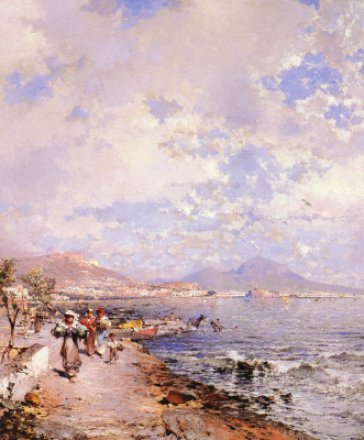 Franz Richard Unterberger. The Bay of Naples