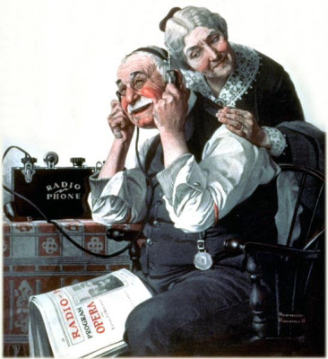 """Чудеса радио. Обложка журнала """"The Saturday Evening Post"""" (20 мая 1922 года)"""