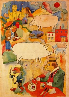 George Grosz. Pigs