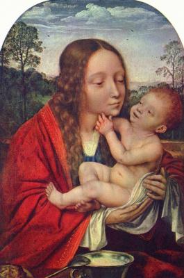 Квентин Массейс. Пейзаж с Марией и младенцом Иисусом