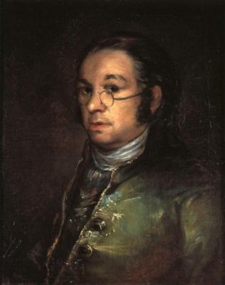 Francisco Goya. Self-portrait with glasses