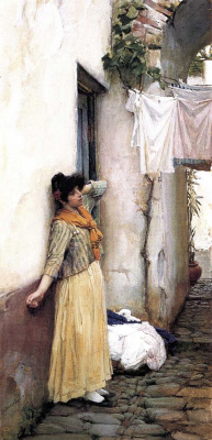 John William Waterhouse. Rest. Italian girl