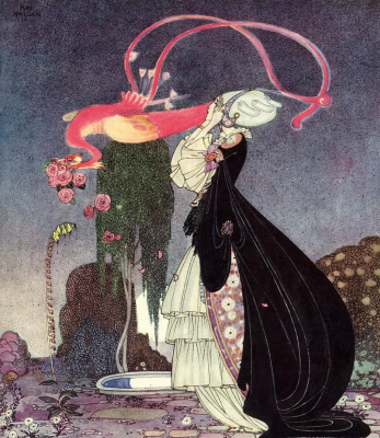 "Kay Nielsen. Illustration for the book ""In powder and crinoline"". Old tales"