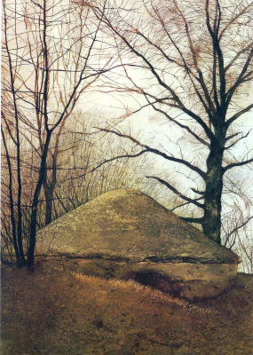 Jamie Wyeth. Root cellar