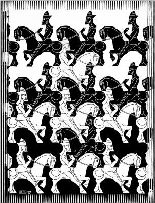 Maurits Cornelis Escher. Regular splitting of the plane