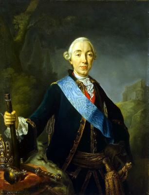 Лукас Конрад Пфанцельт. Портрет Петра III