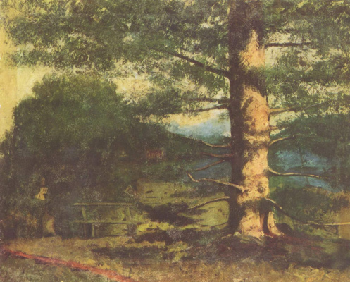 Gustave Courbet. Landscape with tree