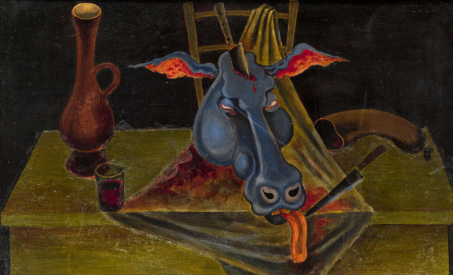 Michael Shemyakin. Still life with a bull's head. 1965