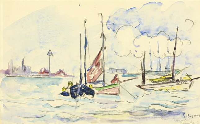 Paul Signac France 1863 - 1935. East. Raid. 1921