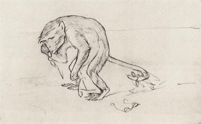 Valentin Aleksandrovich Serov. The owl and the Pussycat