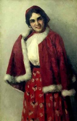 Ivan Goriushkin-Sorokopudov. Portrait of a girl.