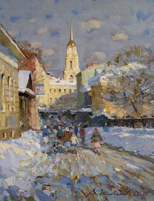 Alexander Victorovich Shevelyov. Rybinsk.Spring motive. Oil on canvas 30 x 39 cm 2017