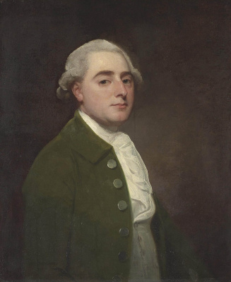 George Romney. Gentleman in Green (Portrait of Mr. Light from Calvendon)