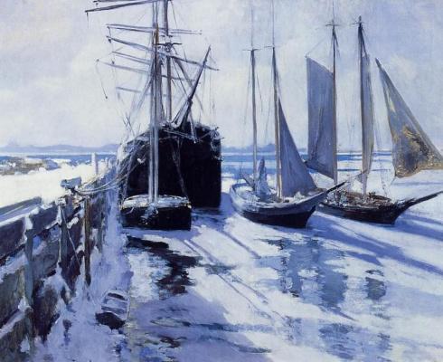 John Henry Twachtman. Winter in Connecticut