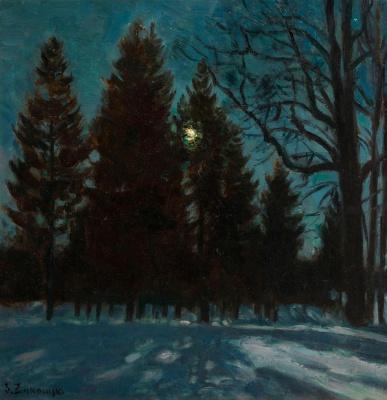 Stanislav Yulianovich Zhukovsky. Winter night