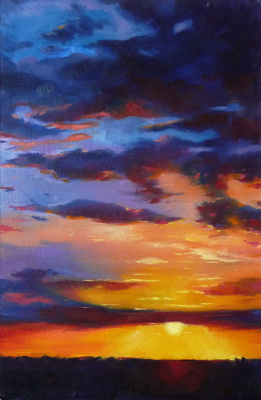 Olga Glazacheva. Sunset