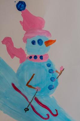 Katya S. Sports snowman