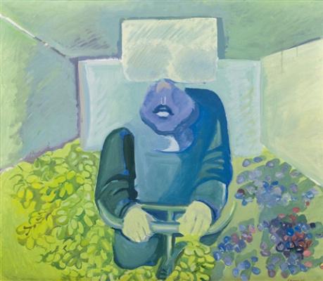 Maria Lassnig. Brettl vorm Kopf