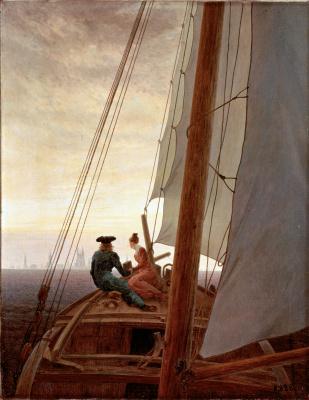 Каспар Давид Фридрих. На парусном корабле