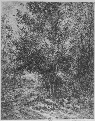 Charles-Francois Daubigny. The shepherd and shepherdess