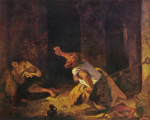 Eugene Delacroix. Imprisonment Khilona (prisoner of Chillon)