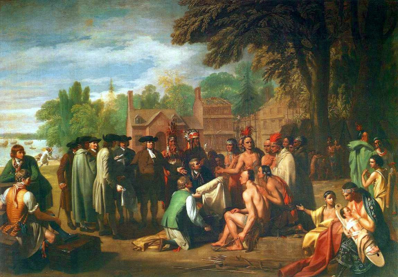 Бенджамин Уэст. Договор Вильяма Пенна с индейцами
