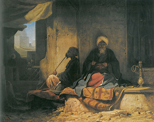 Karl Spitzweg. In the Turkish Bazaar