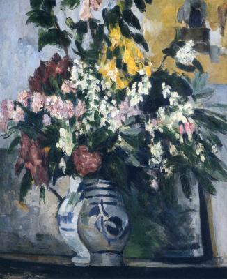 Поль Сезанн. Две вазы с цветами