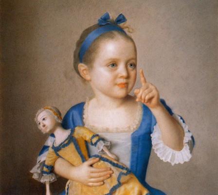 Жан-Этьен Лиотар. Мария-Анна Лиотард с куклой