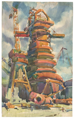 Alexandrovich Rudolf Pavlov. Construction of the ChMZ plant. Blast furnace.