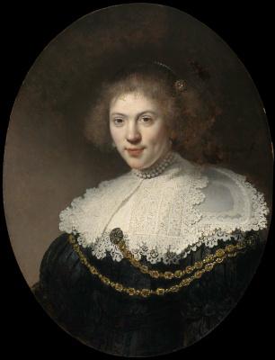 Рембрандт Харменс ван Рейн. Портрет женщины с золотой цепью