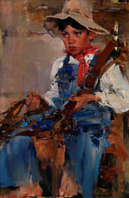 Nikolay Feshin. Little cowboy
