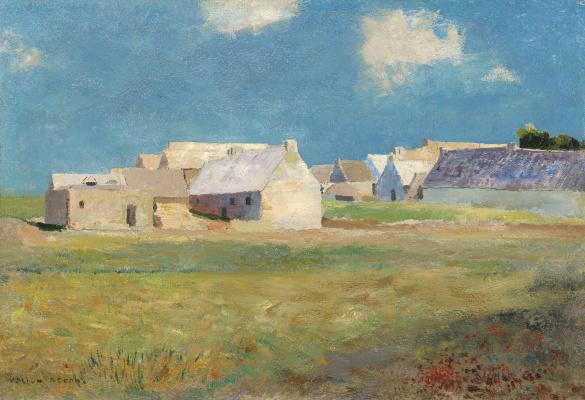 Odilon Redon. Breton village