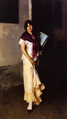 John Singer Sargent. Venetian with a fan