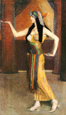 "Sonia Delaunay. A Cleopatra costume for productions of ""Russian seasons"" Diaghilev"