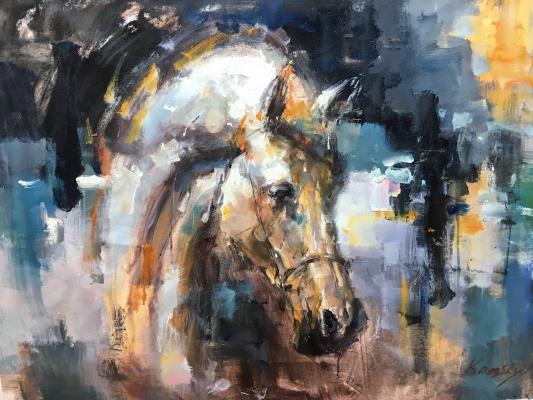 Савелий Камский. Конь. Портрет N1
