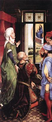 Рогир ван дер Вейден. Мидлбургский алтарь. Фрагмент