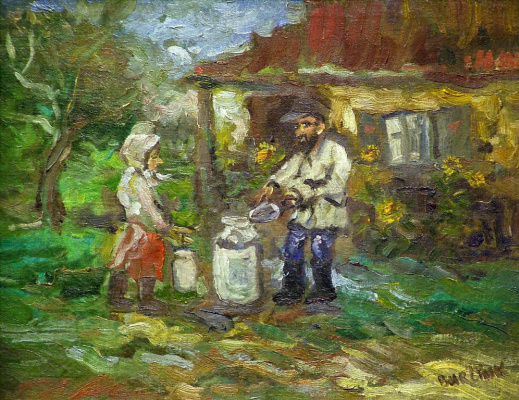 David Davidovich Burliuk. Ukrainian peasants