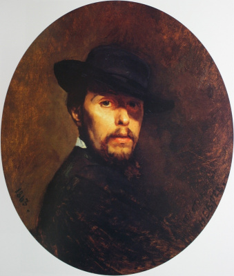 Nikolai Vasilyevich Nevrev. Self portrait 1863