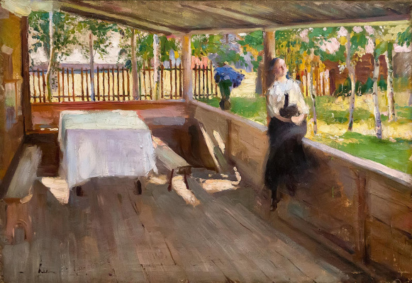 Pavel Petrovich Benkov. On the terrace