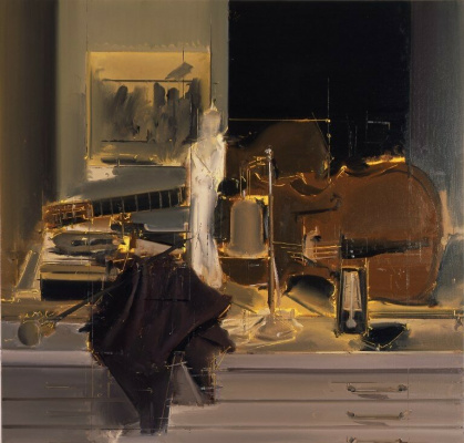 (no name). Still life with musical instruments
