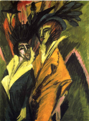 Ernst Ludwig Kirchner. Two women on the street