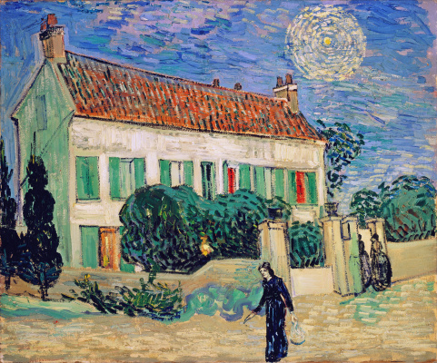 Vincent van Gogh. The white house at night