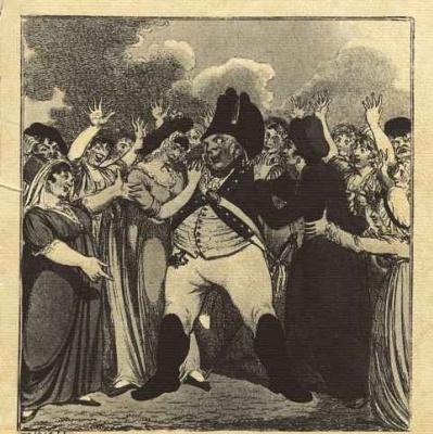 Английский офортист W. S.. Карикатура