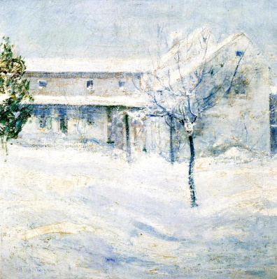 """John Henry Twachtman. The old """"Holly house"""""""